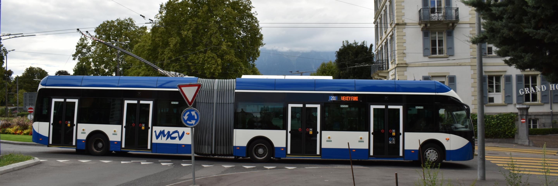 Bus des VMCV à Vevey
