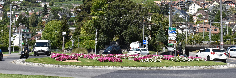 giratoire entrée Ouest Vevey