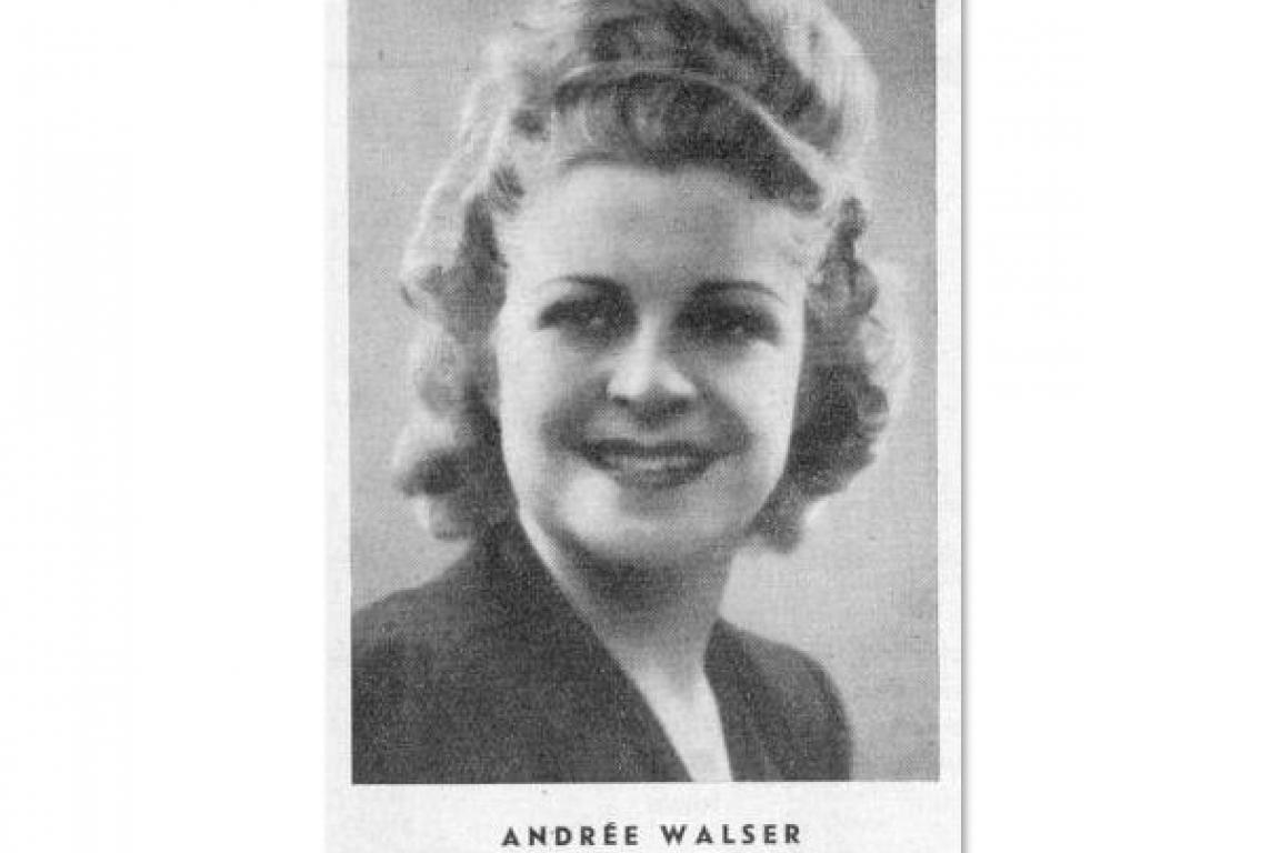 Andrée Walser 1948, de Radio-Lausanne