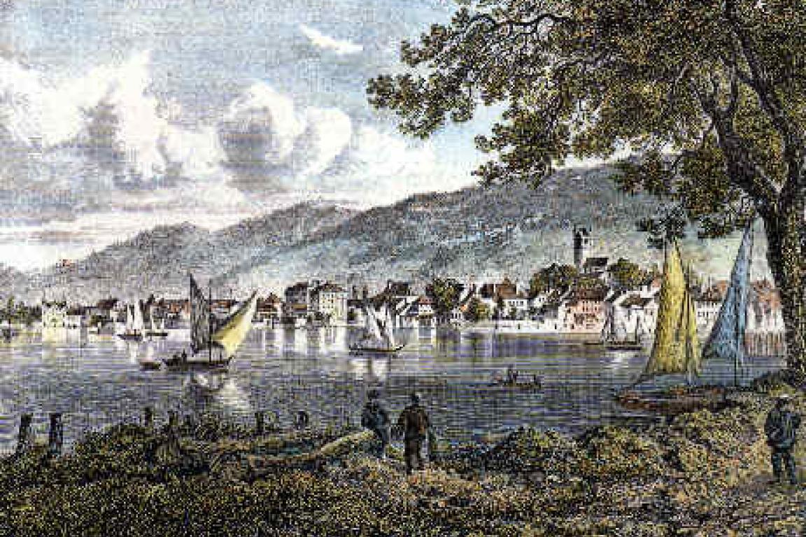 Gravure Vevey 1860