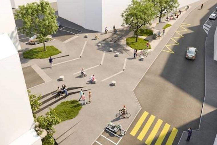 Vevey projet réaménagement Place de l'Oriental